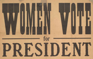 Women Vote for President