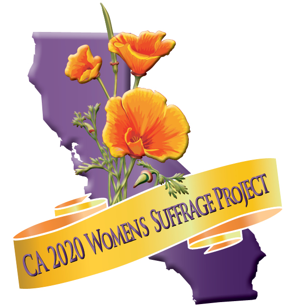 CA Suffrage Logo with State